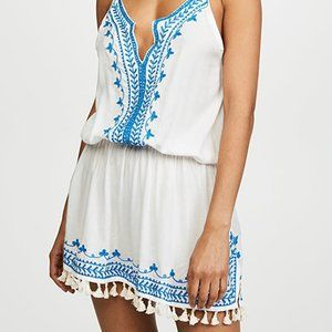 TIARE HAWAII Suntide Mini Dress - Navy white OS
